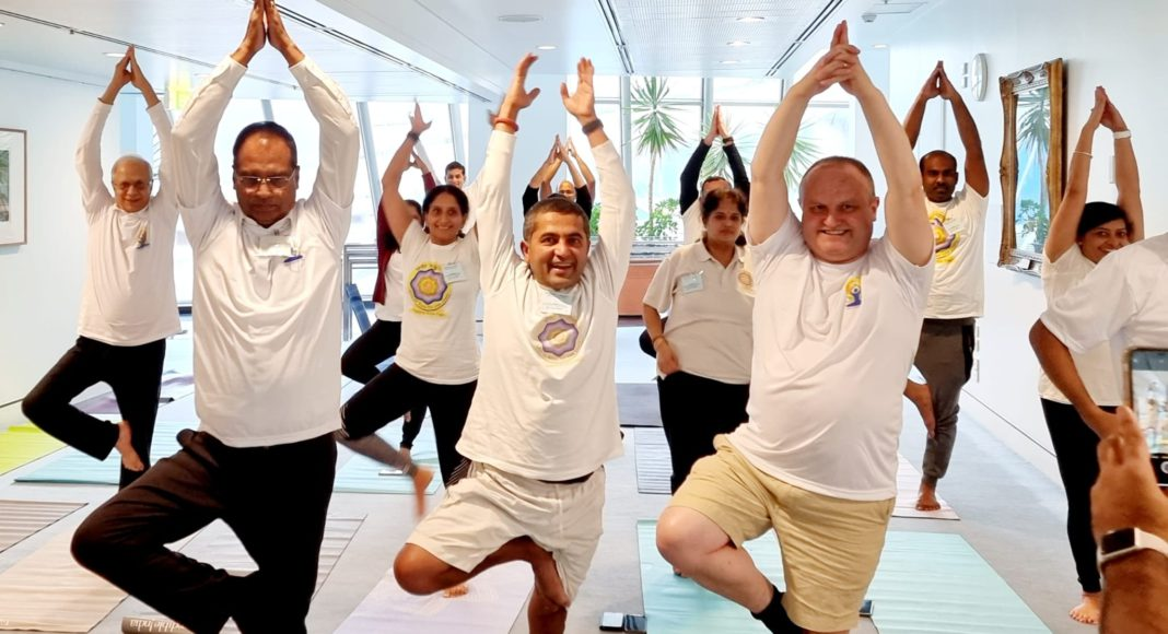 YOGA at Australian Federal Parliament; Picture Source: The Australia Today