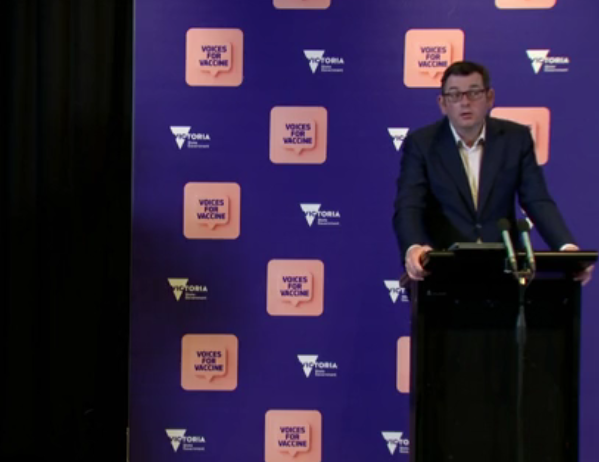Victorian Premier Daniel Andrews at Press Conference: Source: The Australia Today